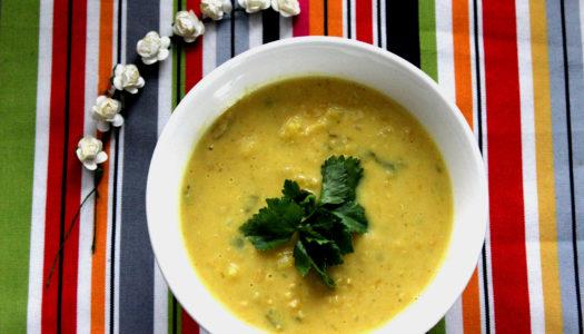Zupa z soczewicy z ananasem