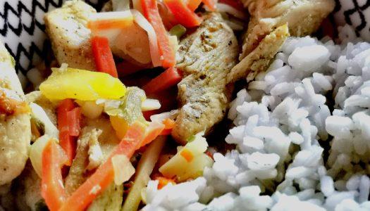 Kurczak z curry i kolendrą